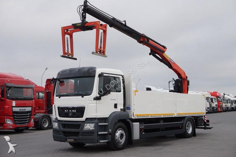 Ciężarówka MAN TGS / 18.360 / E 5 / SKRZYNIOWY + HDS / MANUAL