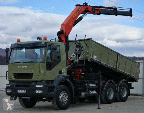 Ciężarówka Iveco Trakker 350 Kipper 5,00m + Kran*6x4*Topzustand!