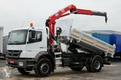 camion Mercedes AXOR 1828 / 4X2 / 3 SIDED TIPPER+CRANE HMF 1110