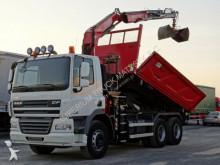 camion DAF CF 85.360/6X4/2 SIDED TIPPER/CRANE FASSI F135/