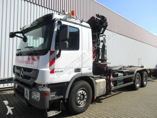 Camion Mercedes 3346   6x4  3346 6x4 mit Kran Penz 17ZR