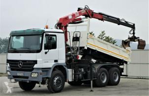 camion Mercedes Actros 3336 Kipper 4,60m+Kran Topzustand!