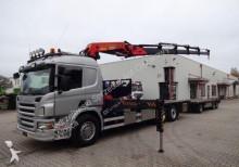 ciężarówka Scania P380 / Platforma + HDS / Przyczepa