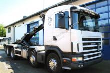 camion Scania R124 GB 470 8x2 Kettenabroller EURO 3 Retarder