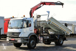 camion Mercedes AXOR 1833 /4X2/ 3 SIDED TIPPER+CRANE FASSI F110