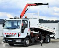 camión Iveco Eurocargo 90E17 Dreiseitenkipper 4,00m+Kran 4x2