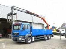 ciężarówka MAN TG-S 26.440 6x2-2 LL Pritsche Heckkran Lift+Lenk