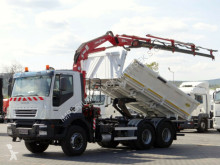 Iveco TRAKKER 350 / 6X4/2 SIDED TIPPER+ CRANE VEBA 814 truck
