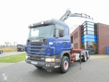 Scania 124G470 6x2 / Tipper / Hiab Crane / Full Steel / Opticruise