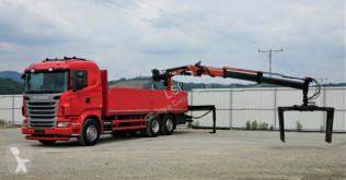 camion Scania R480 *Pritsche 6,90 m + KRAN*Top Zustand!