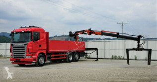 camião Scania R480 *Pritsche 6,90 m + KRAN*Top Zustand!