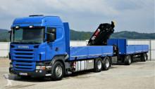 camião Scania R480 Pritsche 6,40m + Kran + Anhänger 6x4