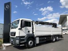 camión MAN TGS 26.440 6x2 Baustoffpritsche/Kran Hiab 166 K