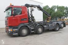 camião Hiab Scania R410 Euro6 8x2 Containervrachtwagen Met Kraan