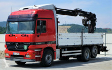 camion Mercedes Actros 2540 Pritsche 6,00m + Kran 6x2!