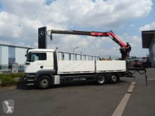 camion MAN TGA 26.400 6x2 Baustoffpritsche Kran Fassi F130