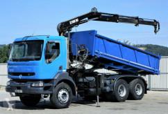 camion Renault KERAX 370 Kipper 5,40m + Kran 6x4 Topzustand!