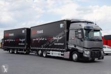 camion Renault - T 460 / EURO 6 / ZESTAW 120 M3 / JAK NOWY + remorque