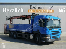 camion Scania P 360, 6x2, Atlas 186.3 V Kran, Bl/Lu, Klima