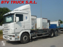camion Scania 144 - 460 MOTRICE SCARRABILE PORTACASSE MOBILI