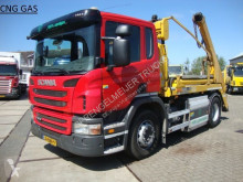 camion Scania 310 hyva PORTAAL LIFT14 ton CNG aardgas