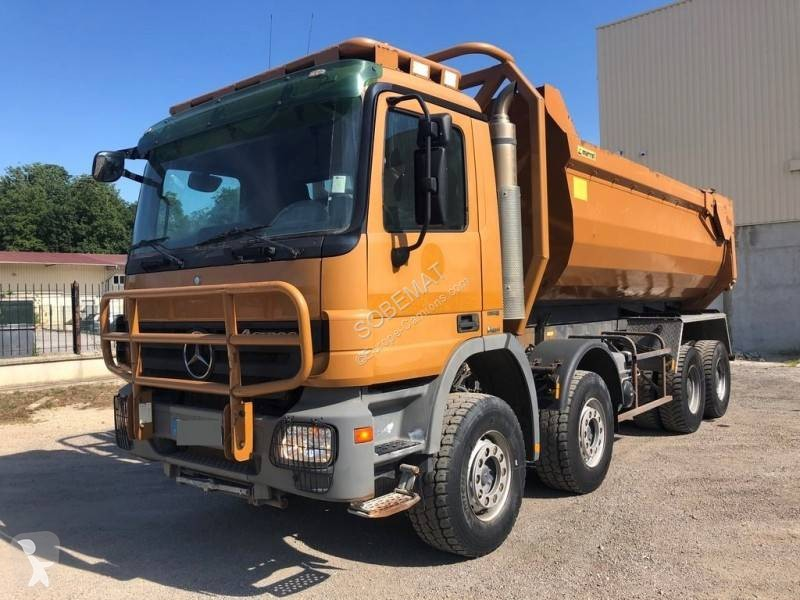 Used Dump Trucks >> Used Mercedes Actros Construction Dump Truck Marrel 4141 8x4 Diesel Euro 4 N 3381273