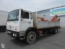 camion Renault G300 - platform with crane - grue