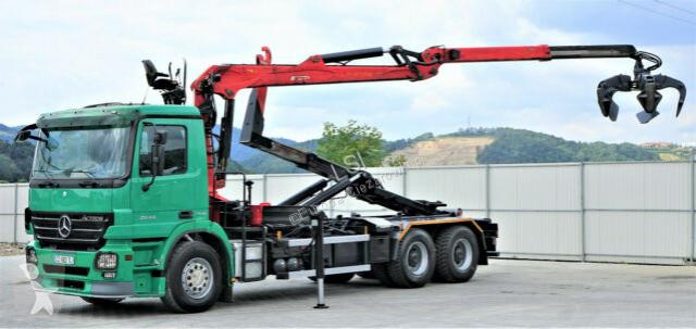 Voir les photos Camion Mercedes Actros 2644 Abrollkipper 5,60m+ Kran*6x4*