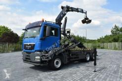 camion MAN TGS 26.320 Abrollk. HMF1823 3xhydr. Funk Greifer