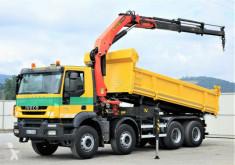 camión Iveco Trakker 410 Dreiseitenkipper 5,70m+Kran