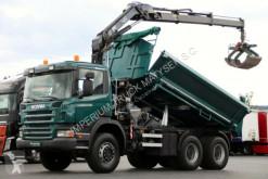 camion Scania P 340 / 6X6 / 2 SIDED TIPPER + CRANE HIAB 122 /