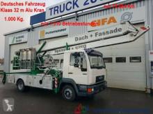 camion MAN 8.113 Klaas Montage Dachdecker Kran 32m 1000 kg.
