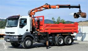 camion Renault KERAX 370 DCI Kipper 5,20m + Kran 6x4