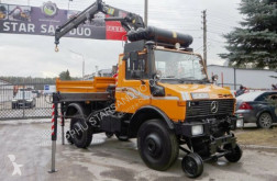 camion Unimog 427/20 ZAGRO RAIL HIAB 071 Road two way Schiene