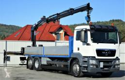 camion MAN TGS 26.400 Pritsche 7,10 m+Kran/FUNK*6x2!