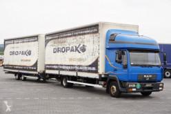 kamion s návěsem MAN - 8.220 / ZESTAW PRZESTRZENNY / BURTO FIRANKA + remorque
