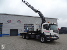 camion Scania 124-420 / MANUAL / HIAB 280-4 CRANE WITH REMOTE CONTROL / / 2001