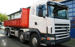 ciężarówka Scania R124 GB 470 8x2 Kettenabroller EURO 3 Retarder