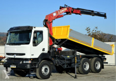ciężarówka Renault KERAX 370 DCI Kipper 5,40m + Kran 6x4