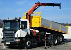 camion Scania P340 Kipper 6,20m + Kran*6x2*Topzustand