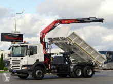 camion Scania P 380 / 6X4 / 2 SIDED TIPPER + CRANE FASSI F130/