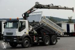 ciężarówka Iveco TRAKKER 360/ 6X4/ 2 SIDED TIPPER+ CRANE HIAB 122