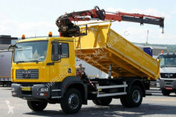 camion MAN TGM 18.240/4X4/3 SIDED TIPPER+ CRANE ATLAS 135.2