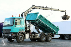camion Mercedes ACTROS 2632/ 6X4 /2 SIDED TIPPER+ CRANE HIAB 144