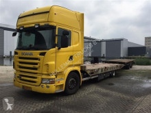 Scania flatbed trailer truck