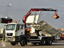 camion MAN TGS 26.360/ 6X4/ 3 SIDED TIPPER+CRANE FASSI F110