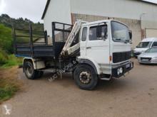 camion Renault G230 BENNE + GRUE PM - TIPPER + CRANE - SUSP LAMES - FRANCAIS