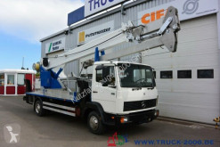 camion Mercedes 814 Böcker Montage-Dachdecker Kran 23.5m = 300kg