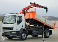 ciężarówka DAF LF 55.220*Kipper 4,50 + Kran/FUNK*Topzustand!!