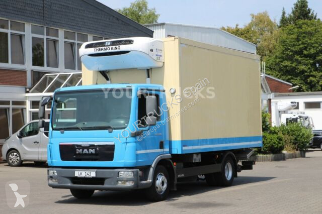 Voir les photos Camion MAN TGL 12.180 Thermo King T-600R Strom+Ladebordwand